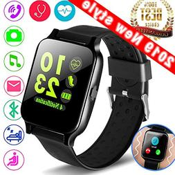 "1.54"" Smartwatch Sport Fitness Tracker for Women Men with Bl"