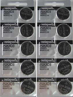 Energizer CR2025 3V Lithium Coin Battery 10 Pack 2 packs of
