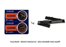 Battery replacement for Garmin HRM-Dual Heart Rate Monitor