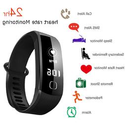 24hr heart rate monitor smart watch wristband