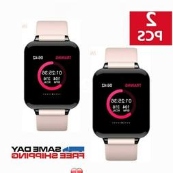 2X Bluetooth SMART Watch Heart Rate Blood Pressure Monitor S