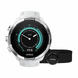 Suunto 9 GPS Watch G1, White - Baro with HR Strap