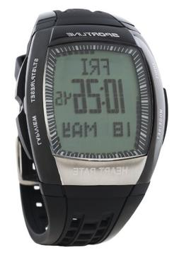 Sportline 965 Men Solo Pedometer HRM With Tap Display to Tra