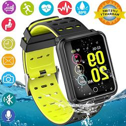 Smart Watches, IP68 Waterproof Sports Fitness Tracker with H
