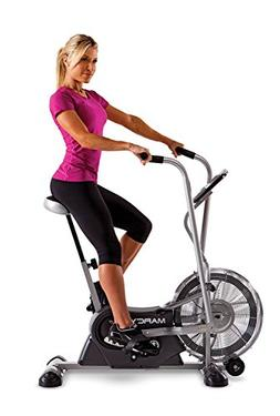 Marcy Exercise Upright Fan Bike for Cardio Training and Work