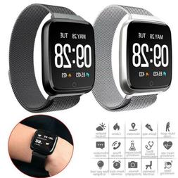 Bluetooth Smart Watch Heart Rate Monitor Stainless Steel Wri