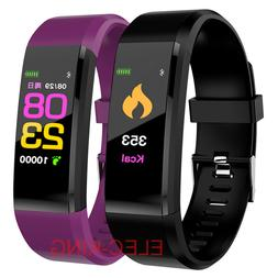 BT Smart Watch Waterproof Heart Rate Fitness Step Calorie Tr