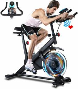 Indooor Exercise Bike with Heart Rate Monitor,Comfortable Se