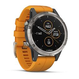 Garmin Fenix 5 Plus, Premium Multisport GPS Smartwatch, Feat
