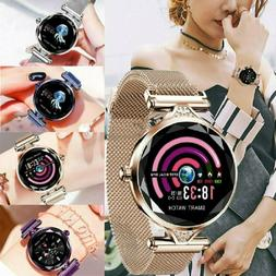 Fashion Women Bluetooth Smart Watch Heart Rate Monitor Brace
