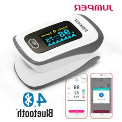 Finger Bluetooth Pulse Oximeter Blood Oxygen Saturation SpO2