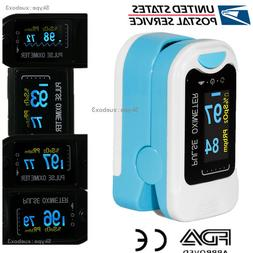 Finger Tip Pulse Oximeter SpO2 Heart Rate monitor blood oxyg