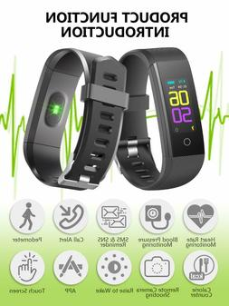 Fitness Activity Tracker Watch with Heart Rate Monitor, IP67