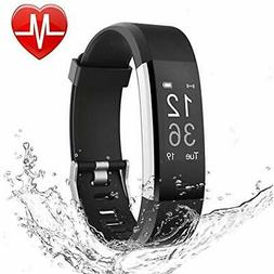LETSCOM Fitness Pedometers Tracker HR, Heart Rate Monitor Wa