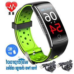 Fitness Tracker Bluetooth with Blood Pressure Monitor, Smart