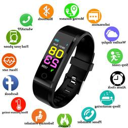 Fitness Tracker heart Rate blood pressure smart watch M4 ped