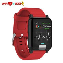 Fitness Tracker HR,ISWIM Color Screen ECG PPG Smart Watch,IP