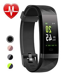 LETSCOM Unisex-Adult Fitness Tracker HR Color Screen, Heart
