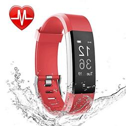 LETSCOM Fitness Tracker HR, Activity Tracker with Heart Rate