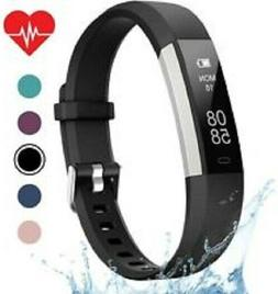 Letscom Fitness Tracker HR Activity Watch Heart Rate Slim Ba