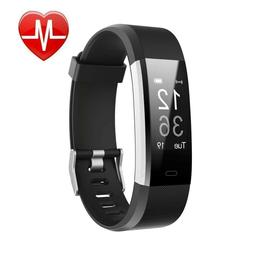 Fitness Tracker HR Letscom Activity Watch With Heart Rate Mo