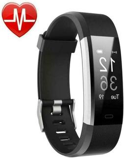 LETSCOM Fitness Tracker HR, Activity Watch with Heart Rate M