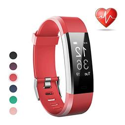 LETSCOM Fitness Tracker, Heart Rate Monitor Smart Watch with
