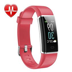 LETSCOM Fitness Tracker, Heart Rate Monitor Watch with Color