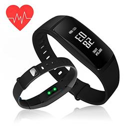 Fitness Tracker,Kirlor Blood Pressure Heart Rate Monitor Wat