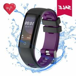 Fitness Tracker Watch Waterproof with Heart Rate Monitor Blo
