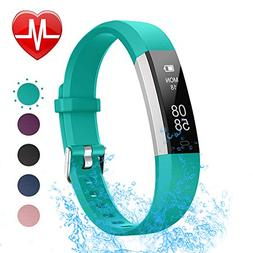 LETSCOM Fitness Tracker with Heart Rate Monitor, Slim Sports