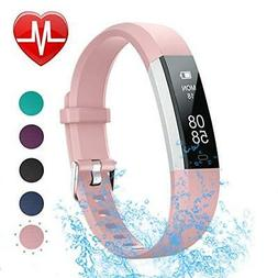 LETSCOM Fitness Tracker with Heart Rate Monitor Slim Sports