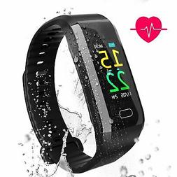 Fitness Trackers Heart Rate Monitor Waterproof Watch With Sl