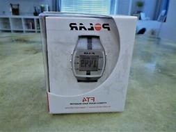 Polar FT4 FT4M Fitness Heart Rate Silver Black New Open Box