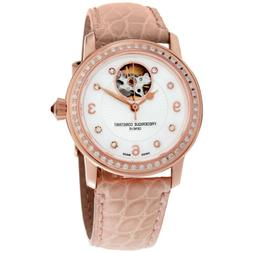 Frederique Constant Heart Beat MOP Dial Leather Strap Ladies
