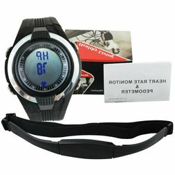 Heart Rate Monitor Pedometer Calories Count Exercises Sports