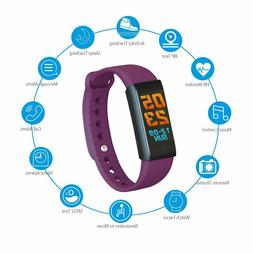 HR Fitness Tracker Heart Rate Activity Monitor Color Display