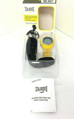 Everlast HR3 Heart Rate Monitor Watch with Chest Strap Trans
