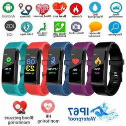 ID115PLUS Upgrated Smart Watch Heart Rate Monitor Pedometer