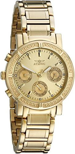 Invicta Women's 14873 Wildflower Gold Dial 18k Gold Ion-Plat