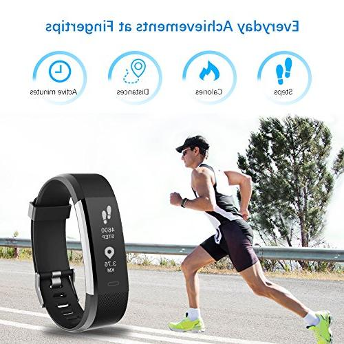 LETSCOM Fitness Tracker Activity Heart Rate Monitor, Waterproof Smart Counter, Counter, Pedometer Watch and Men