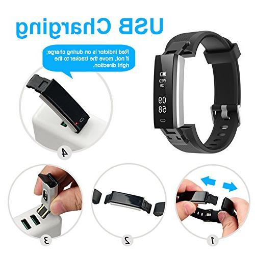 Lintelek Fitness Activity with Rate Wristband with Step Calorie Bluetooth for & Smartphone