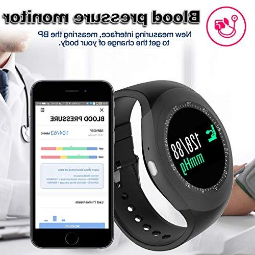 Smart Fitness Tracker with Pressure Monitor Women Kid Tracker Calorie for Android Christmas Holiday Gifts