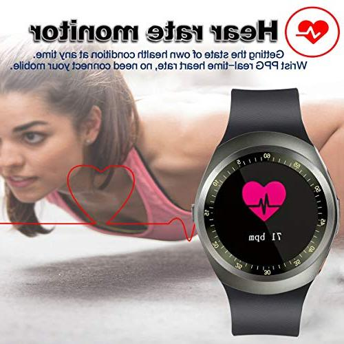 Smart Watch with Rate Pressure Monitor for Women Kid with Pedometer GPS Tracker Calorie for Android Christmas Holiday Gifts