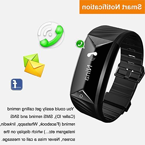 Watch Rate Monitor Watch Tracker,IP67 Waterproof Step Calories Monitor Cycling Alarms,Pedometer for Women