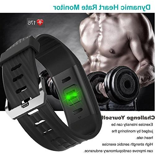 Willful Fitness Watch Heart Monitor Watch Activity Tracker,IP67 Step Calories Monitor Cycling Alarms,Pedometer Watch Men Women