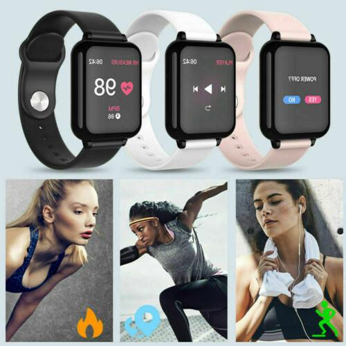 Bluetooth SMART Watch Rate Blood Monitor Sport Tracker