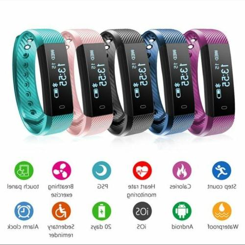 Bluetooth Rate Monitor Fitness Tracker Wristband