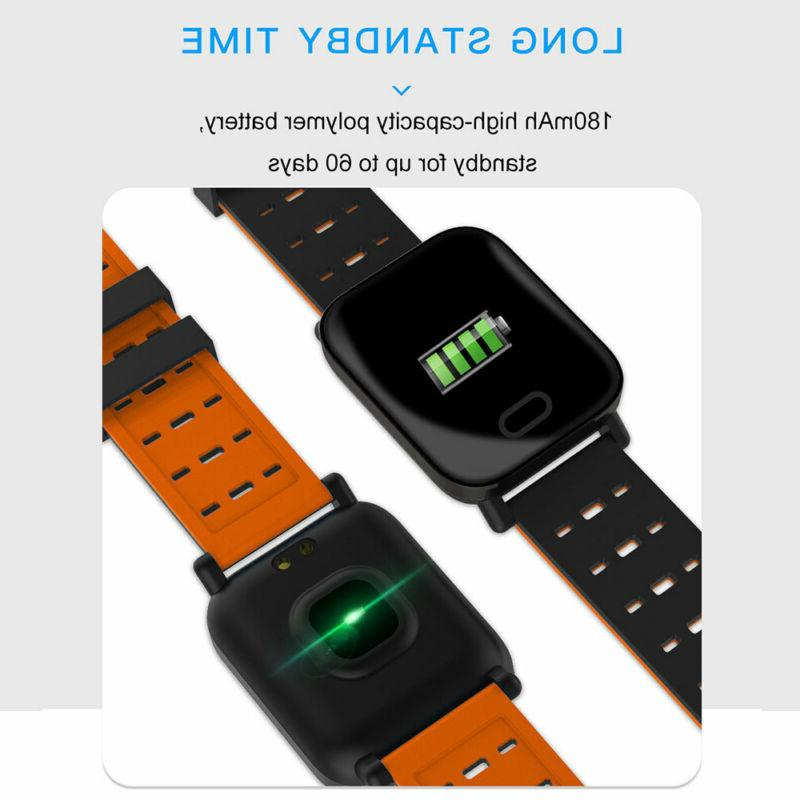 Bluetooth Watch Pressure Heart Rate Fitness Sports Wristband
