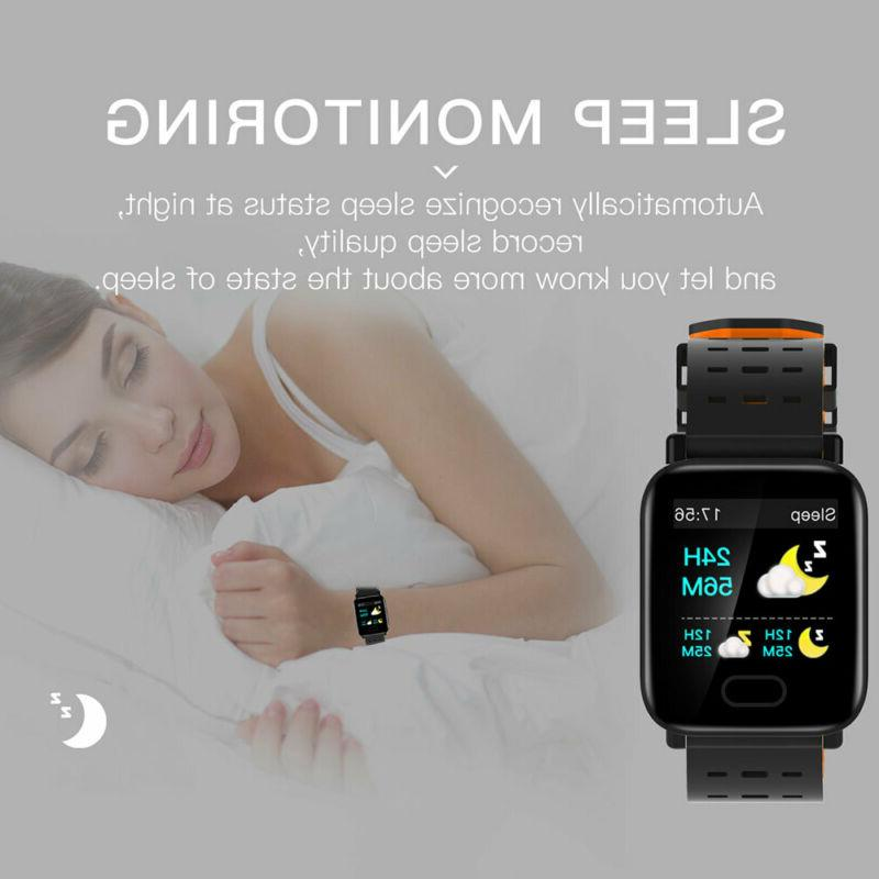 Bluetooth Smart Blood Pressure Heart Rate Monitor Fitness Wristband